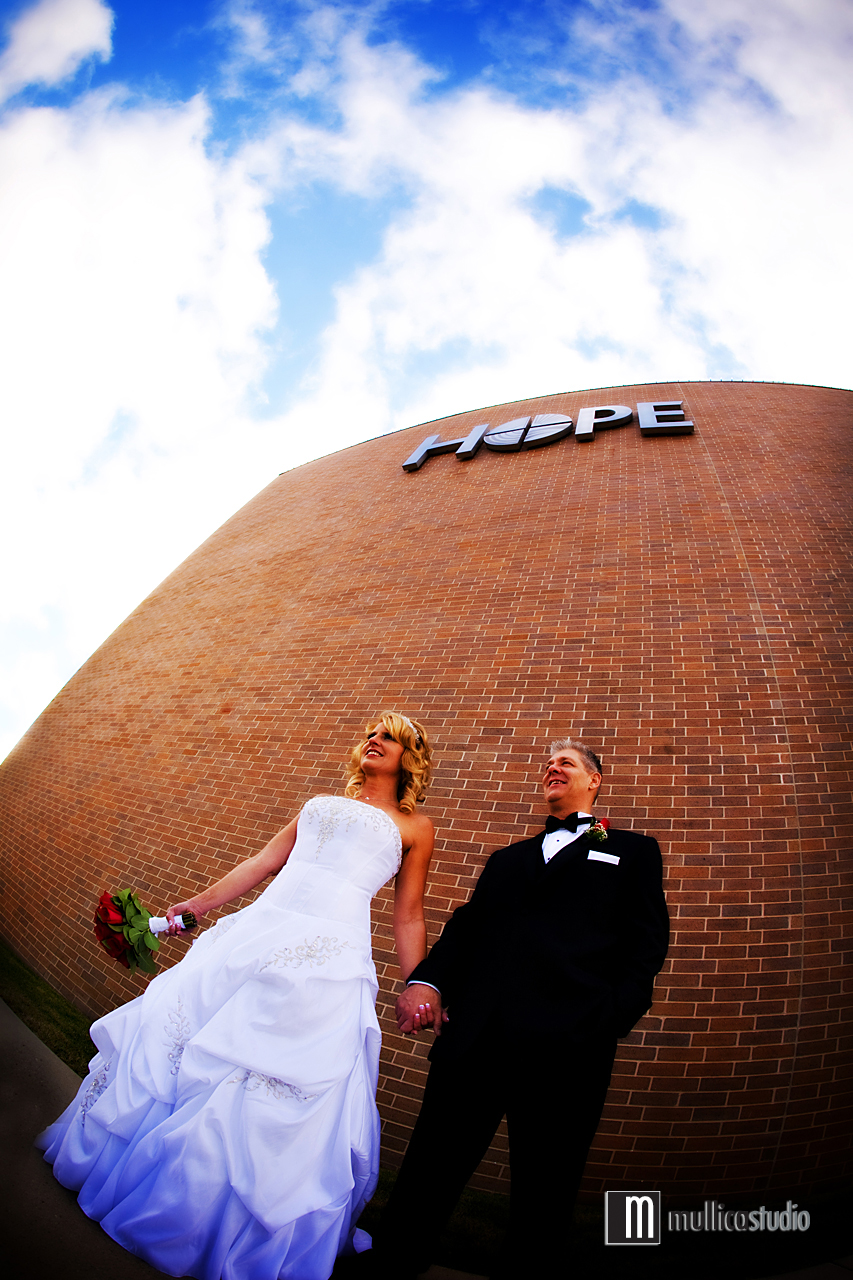 Jamie and Scott's wedding at the Lutheran Church of Hope