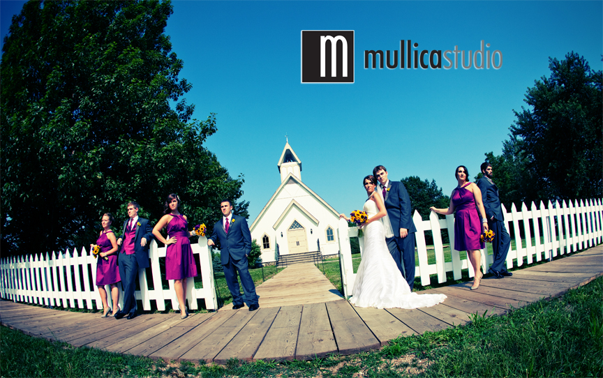Megan And Bryan With Their Wedding Party At Living History Farms